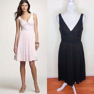 J. Crew Brown Silk Chiffon Twist Tank Dress